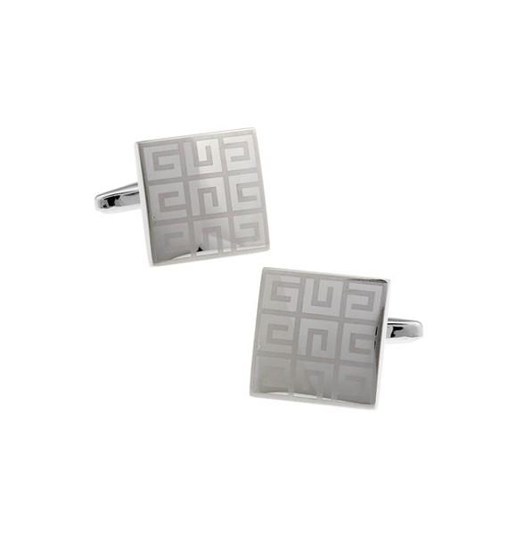 Silver Diamond Maze Cufflinks