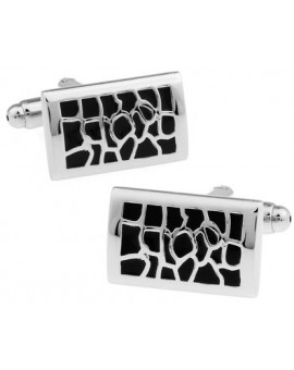 Black and Silver I Cufflinks