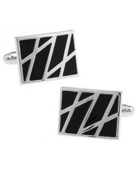 Black and Silver II Cufflinks