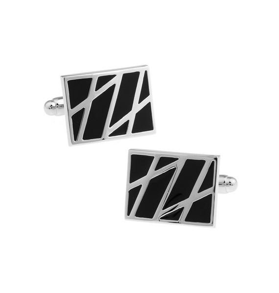 Black and Silver II Cufflinks