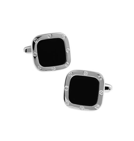Black and Silver XI Cufflinks