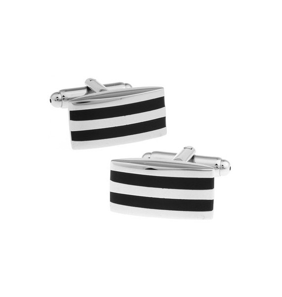 Black and Silver XII Cufflinks