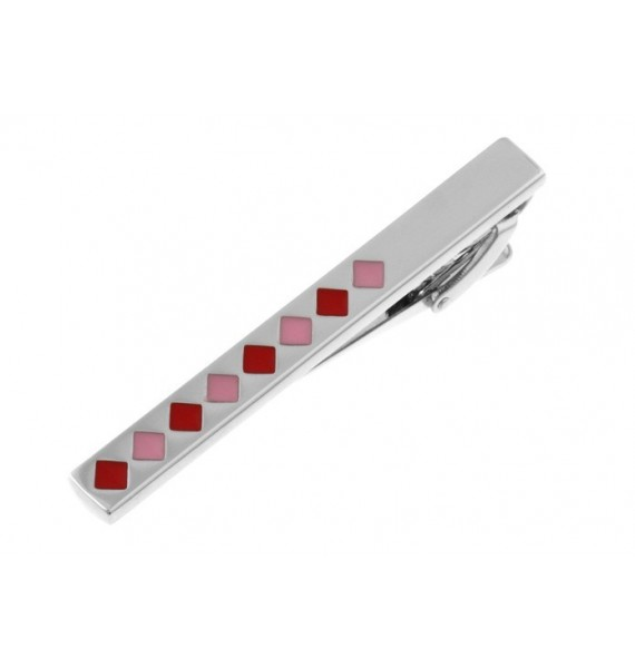 Red and Pink Squares Tie Bar