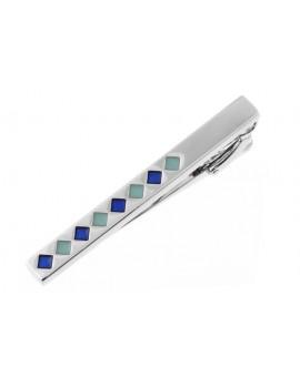 Blue Squares Tie Bar