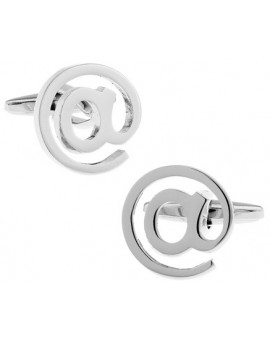 Silver at Sign Cufflinks