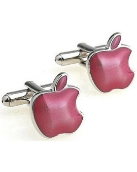 Pink Apple Cufflinks