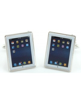 White iPad Cufflinks