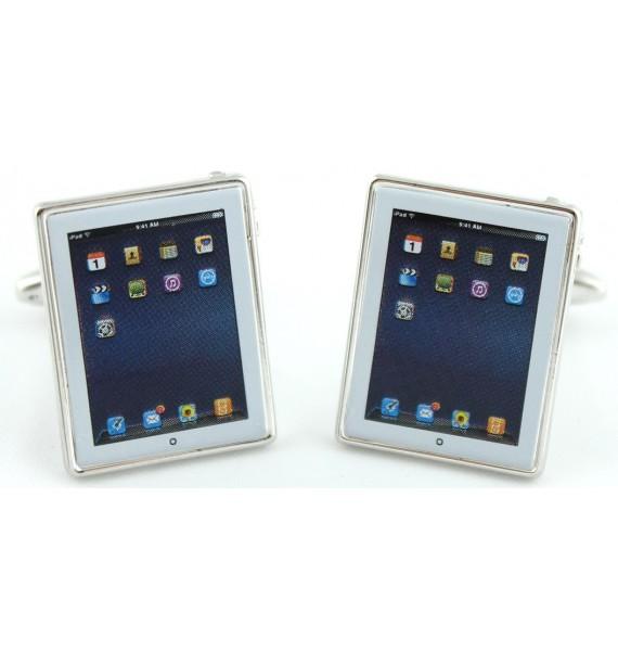 White iPad Cufflinks