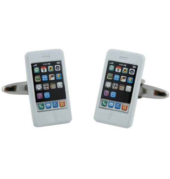 White iPhone Cufflinks