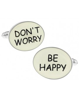 Don´t Worry, Be Happy Cufflinks