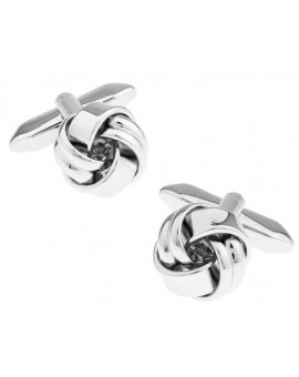 Silver Plated Knot Cufflinks