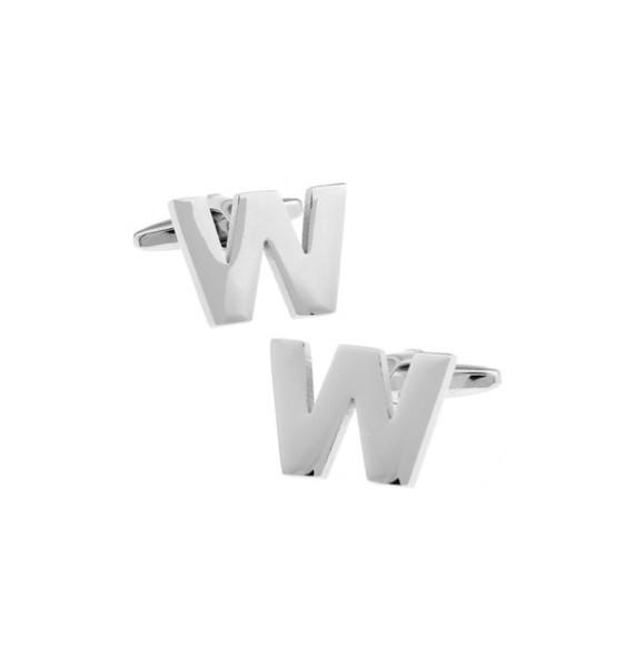 Letter W Cufflinks