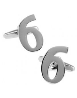Number 6 Cufflinks