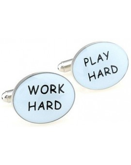 Work Hard, Play Hard Cufflinks