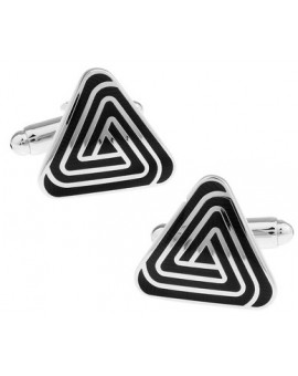 Black and Silver XVI Cufflinks