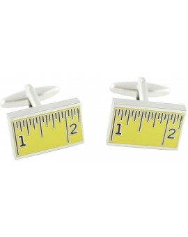 Yellow Ruler Cufflinks