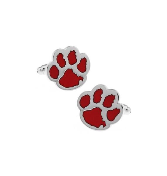 Red Dog Footprint Cufflinks