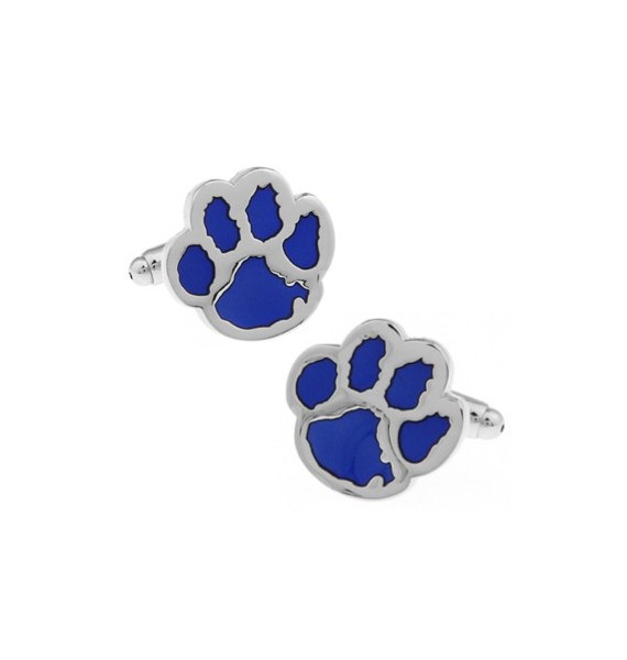 Blue Dog Footprint Cufflinks
