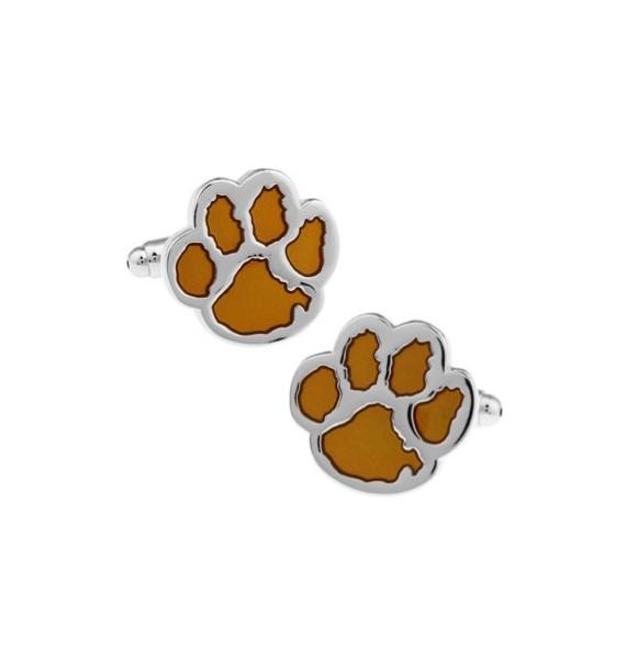 Yellow Dog Footprint Cufflinks
