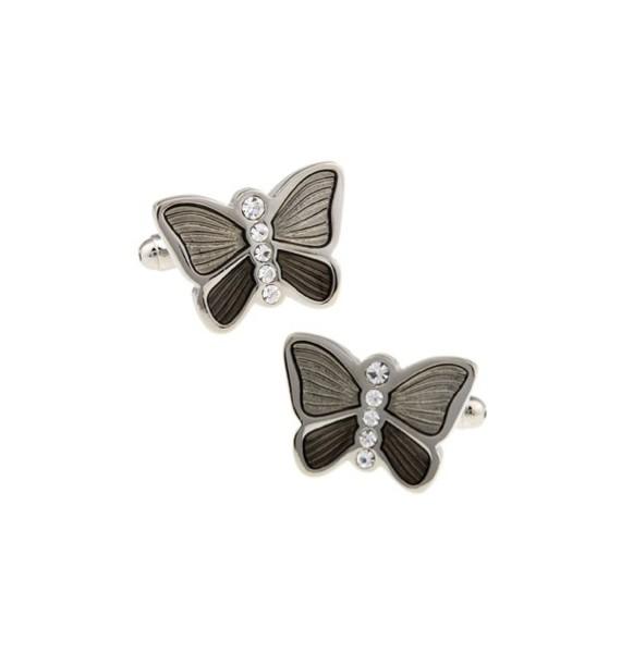 Grey Butterfly Cufflinks