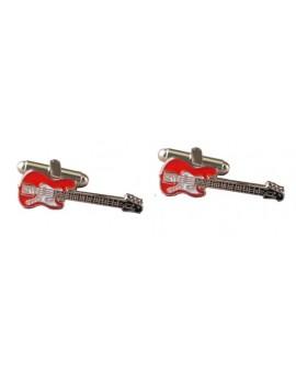 Gemelos Guitarra Bajo Eléctrico Roja