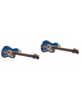 Blue Electric Guitar Cufflinks