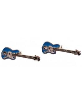 Gemelos Guitarra Bajo Eléctrico Azul