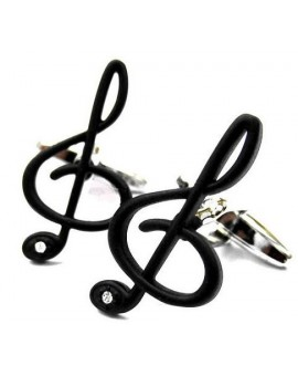 Black Treble Clef Cufflinks