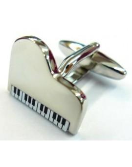Gemelos Piano Plateado