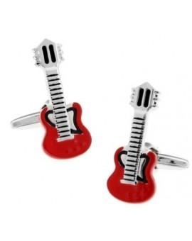 Gemelos Guitarra Roja