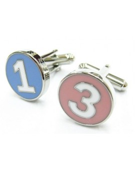 Numbers 1 and 3 Cufflinks