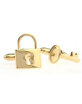 Golden Lock and Key Cufflinks