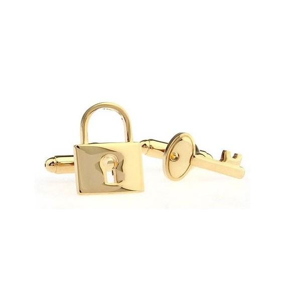Golden Lock and Key Cufflinks