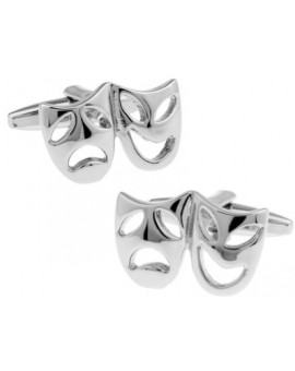 Silver Masks Cufflinks