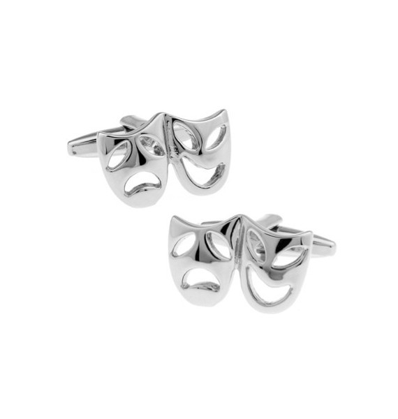 Silver Masks Cufflinks