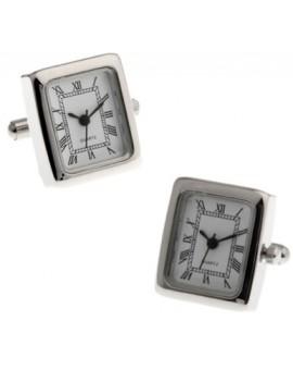 Stainless Steel Square Watch Cufflinks