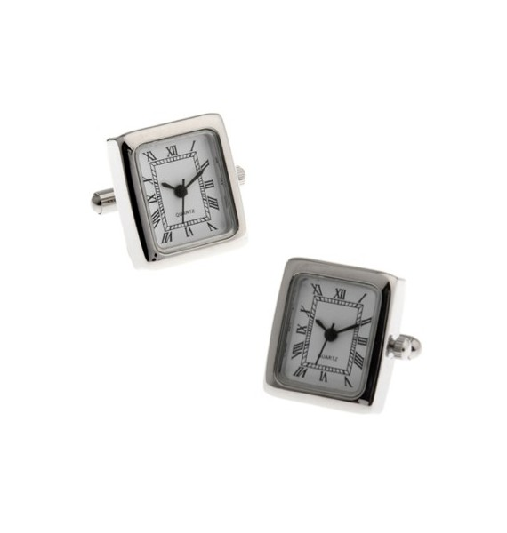 Gemelos Stainless Steel Square Watch