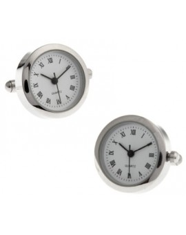 Gemelos Round Silver Watch