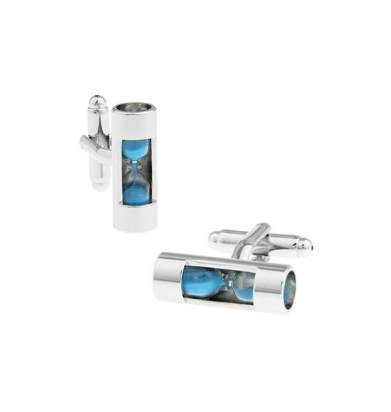 Blue Sandglass Cufflinks