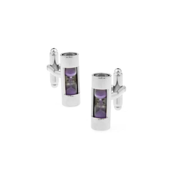 Purple Sandglass Cufflinks