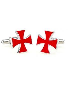 Gemelos Cruz de San Jorge Roja
