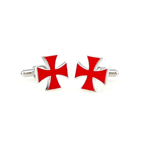 Red Saint George's Cross Cufflinks