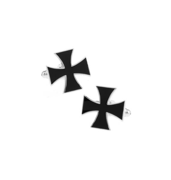 Black Saint George's Cross Cufflinks