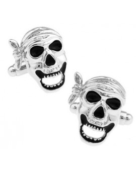 Pirate Skull with Headscarf Cufflinks