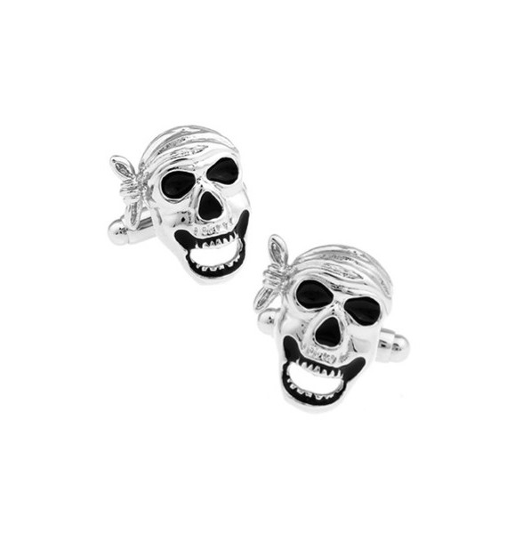 Gemelos Calavera Pirata