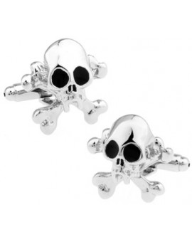 Black and Silver Skull Cufflinks