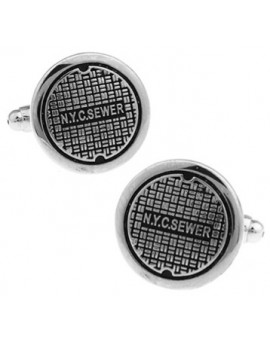 NYC Sewer Cover Cufflinks