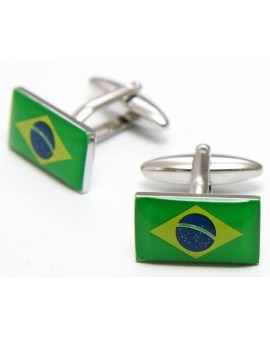 Brazilian Flag Cufflinks