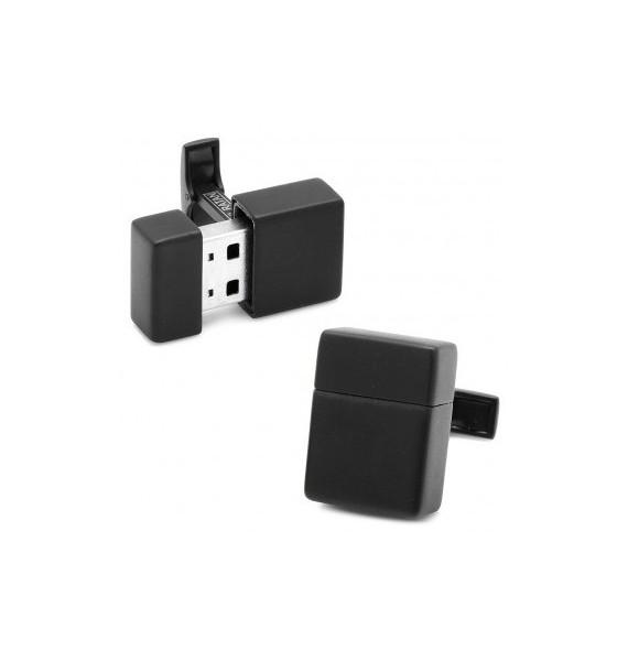 Black 8GB USB Flash Drive Cufflinks