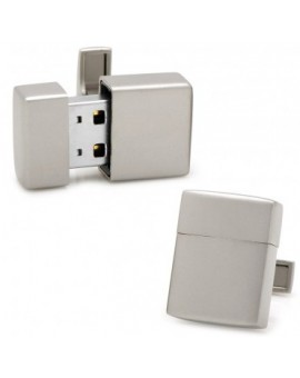 Gemelos USB 8GB Gris Mate